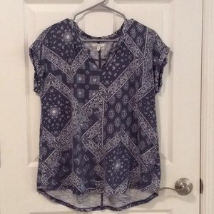 Maurices Printed T Shirt Top - L